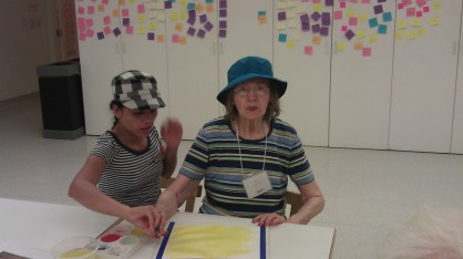 Joan and Jievy painting together!